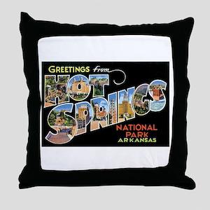 Hot Springs Arkansas Throw Pillow