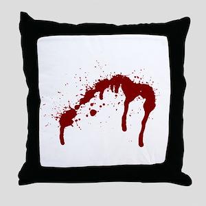 blood splatter 6 Throw Pillow