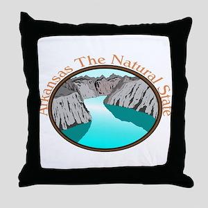 Arkansas Natural State Ash Grey T-Shirt Throw Pill