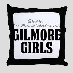 Shhh... I'm Binge Watching Gilmore Girls Throw Pil
