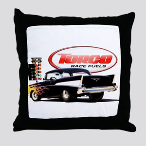 57 Chevy Dragster Throw Pillow