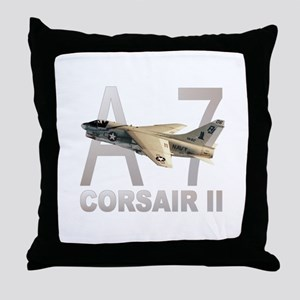 A-7 CORSAIR II Throw Pillow
