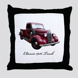 1936 Old Pickup Truck Throw Pillow