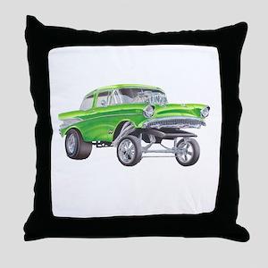 57 Green Gasser  Throw Pillow