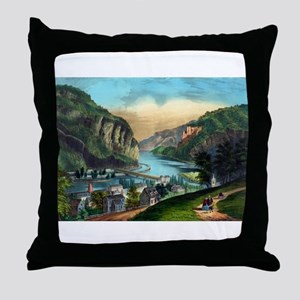 View of Harpers Ferry, Va. - 1907 Throw Pillow