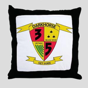3rd Battalion 5th Marines Throw Pillow