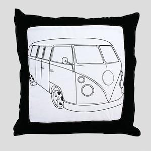70s Van Throw Pillow
