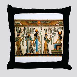 Ancient Egyptian Wall Tapestry Throw Pillow