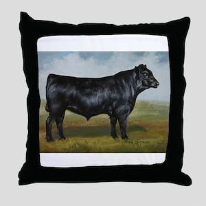 Black Angus Throw Pillow
