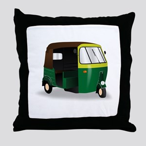 Indian Autorickshaw Throw Pillow