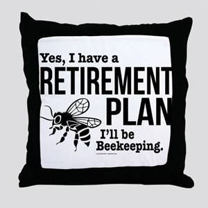 Beekeeping Retirement Throw Pillow