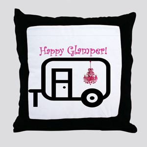 Happy Glamper! Throw Pillow