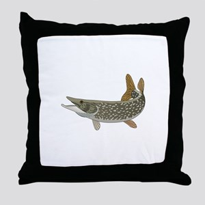 NORTHERN PIKE Throw Pillow