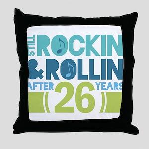 26th Anniversary Rock N Roll Throw Pillow