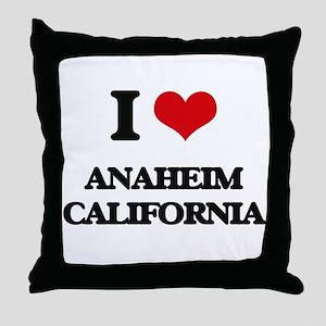 I love Anaheim California Throw Pillow
