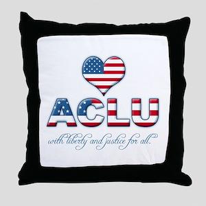 I <3 ACLU Throw Pillow