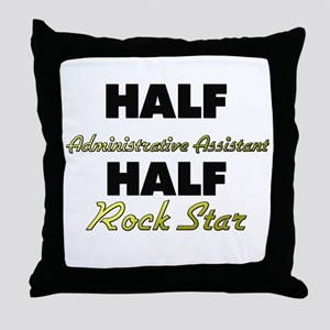 Half Administrative Assistant Half Rock Star Throw