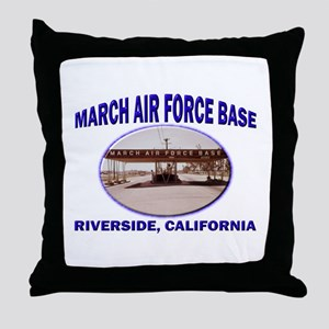 March Air Force Base Throw Pillow