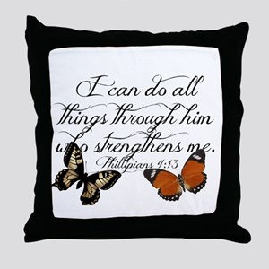 Phillipians 4:13 Throw Pillow