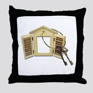 Shuttered Window Keys Throw Pillow
