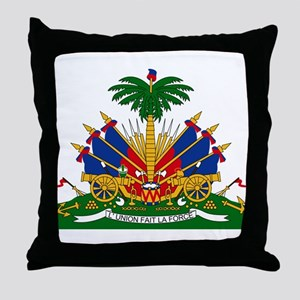 Coat of arms of Haiti - Emblème d'Haï Throw Pillow
