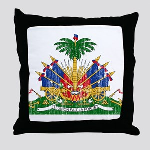 Haiti Coat Of Arms Throw Pillow
