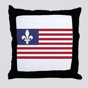 French American Throw Pillow
