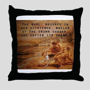 The Soul Secured - Joseph Addison Throw Pillow