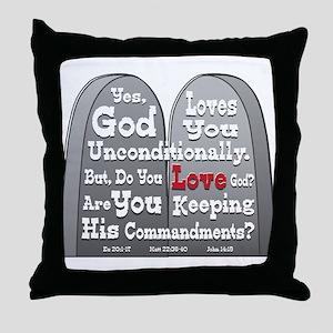 Commandments Throw Pillow