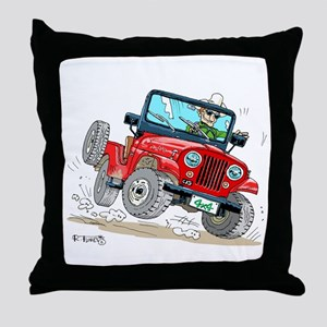 Willys-Kaiser CJ5 jeep Throw Pillow
