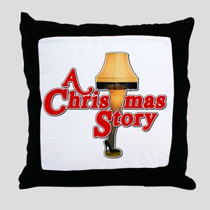 A Christmas Story Movie Lamp Throw Pillow