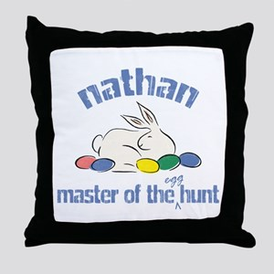 Easter Egg Hunt - Nathan Throw Pillow