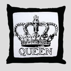 Queen Crown Throw Pillow