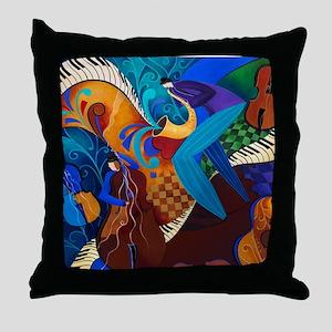 Musicians Jazz Art Print Throw Pillow