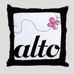 Cute Alto Music Throw Pillow