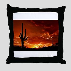 Saguaro Sunset-2 Throw Pillow