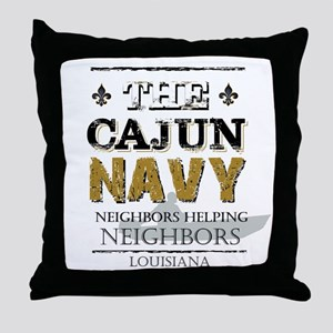 The Cajun Navy Neighbors Helping Neig Throw Pillow