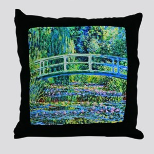 Monet - Water Lily Pond Throw Pillow
