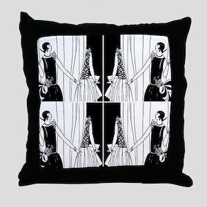 1920s flapper 2 Throw Pillow