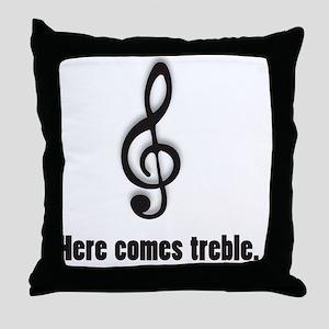 treble Throw Pillow