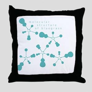 molecular structure of bluegrass tran Throw Pillow