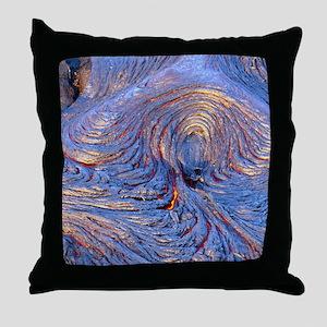 Pahoehoe lava from Kilauea volcano Throw Pillow