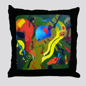 Olive Suspension Throw Pillow