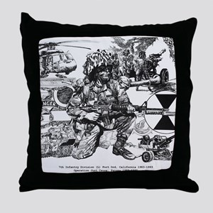 Small Lightfighter Poster Throw Pillow