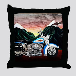 Motorcycle Dream Throw Pillow