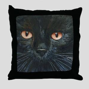 Black Velvet Cat by Lori Alexander Throw Pillow