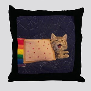 IRL Nyan Pop-Tart Cat  Throw Pillow