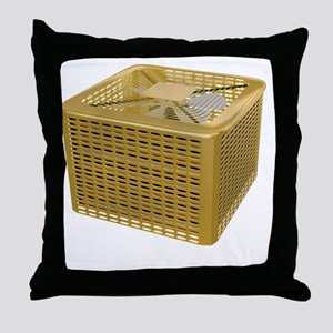 Golden AC Throw Pillow