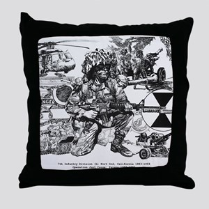 mini poster print Throw Pillow