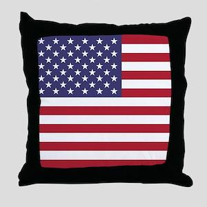 USA flag authentic version Throw Pillow